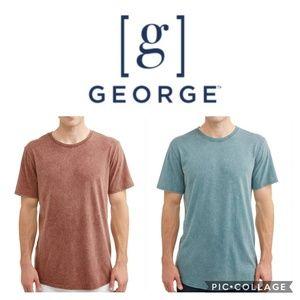 NWT BUNDLE of (2) George size S elongated tees